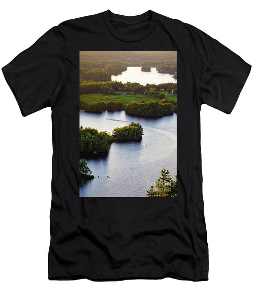 Late Afternoon On Lake Megunticook, Camden, Maine -43988 Men's T-Shirt (Athletic Fit)