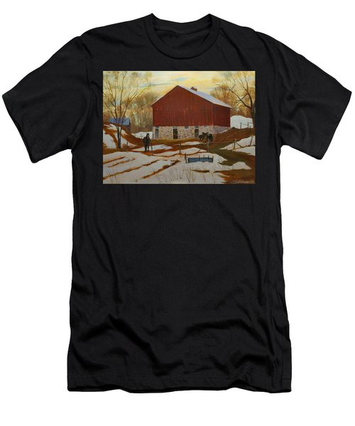 Late Winter At The Farm Men's T-Shirt (Athletic Fit)