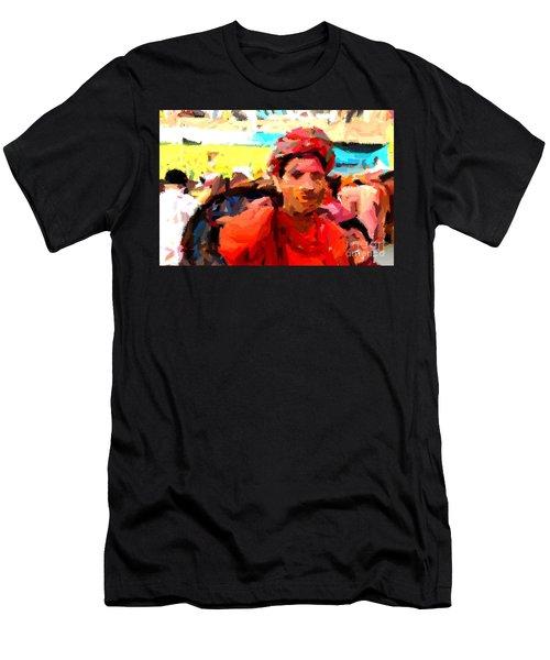 Lathmaar Holi Of Barsana-1 Men's T-Shirt (Athletic Fit)