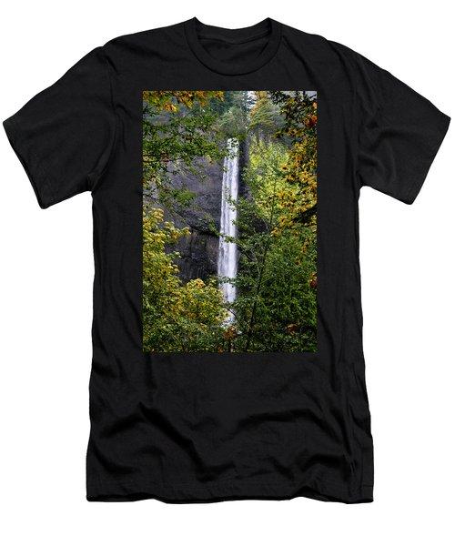 Latourell Falls Men's T-Shirt (Athletic Fit)