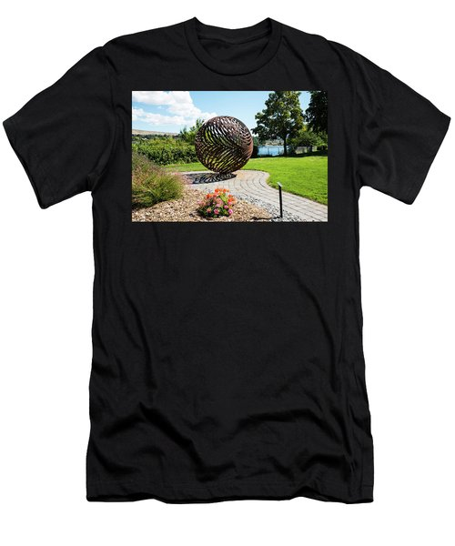 Latticed Iron Ball With Shadow Men's T-Shirt (Athletic Fit)