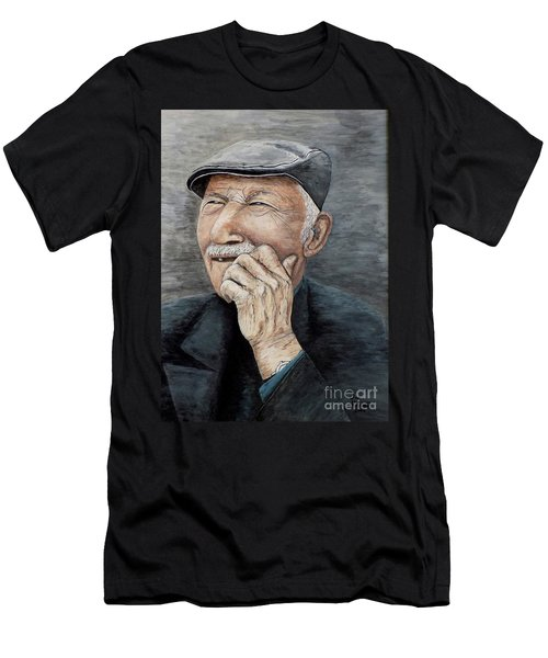 Laughing Old Man Men's T-Shirt (Athletic Fit)