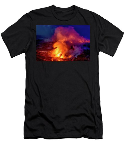 Lava And Ocean At Dawn Men's T-Shirt (Athletic Fit)