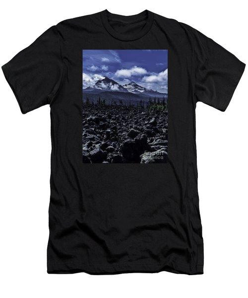 Lava Below The Sisters Men's T-Shirt (Athletic Fit)