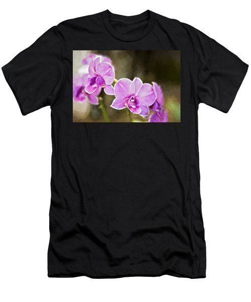 Men's T-Shirt (Slim Fit) featuring the photograph Lavendar Orchids by Lana Trussell