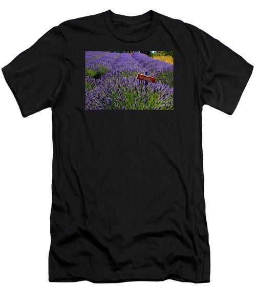 Lavender Bounty 2 Men's T-Shirt (Athletic Fit)