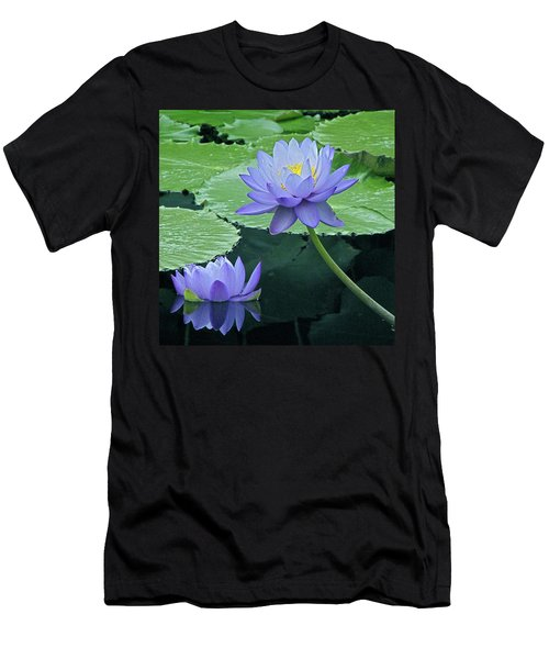 Men's T-Shirt (Slim Fit) featuring the photograph Lavender Enchantment by Byron Varvarigos