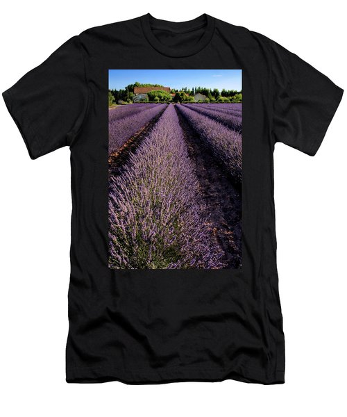 Lavender Field Provence France Men's T-Shirt (Athletic Fit)