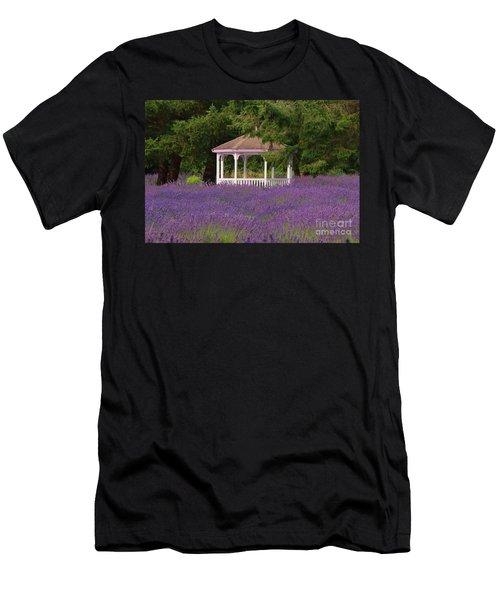 Lavender Gazebo Men's T-Shirt (Athletic Fit)