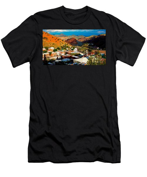 Lavender Pit In Historic Bisbee Arizona  Men's T-Shirt (Athletic Fit)