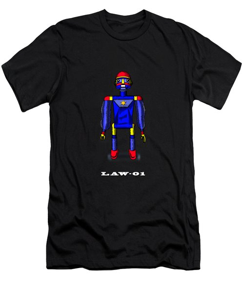 Law 01 Robot Men's T-Shirt (Athletic Fit)