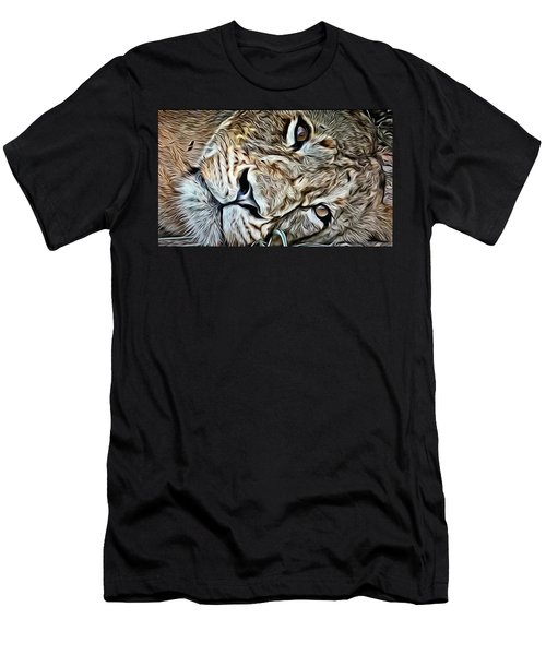 Lazy Lion Men's T-Shirt (Athletic Fit)