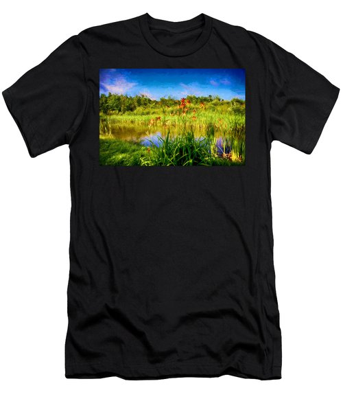 Lazy Summer Men's T-Shirt (Slim Fit) by Tricia Marchlik
