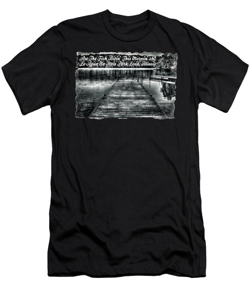 Le-aqua-na Boat Dock October Morning Men's T-Shirt (Athletic Fit)