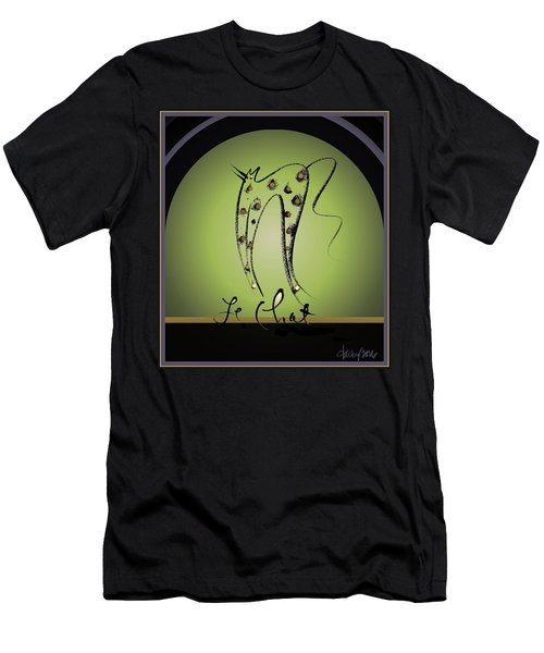 Le Chat - Green And Gold Men's T-Shirt (Athletic Fit)