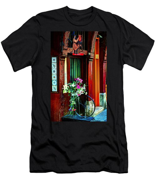 Men's T-Shirt (Slim Fit) featuring the photograph Le Potier Rouen France by Tom Prendergast