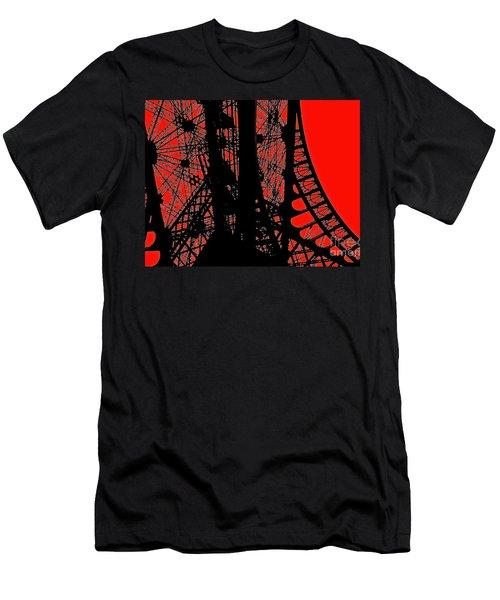 Men's T-Shirt (Slim Fit) featuring the photograph Le Rouge Et Le Noir by Danica Radman