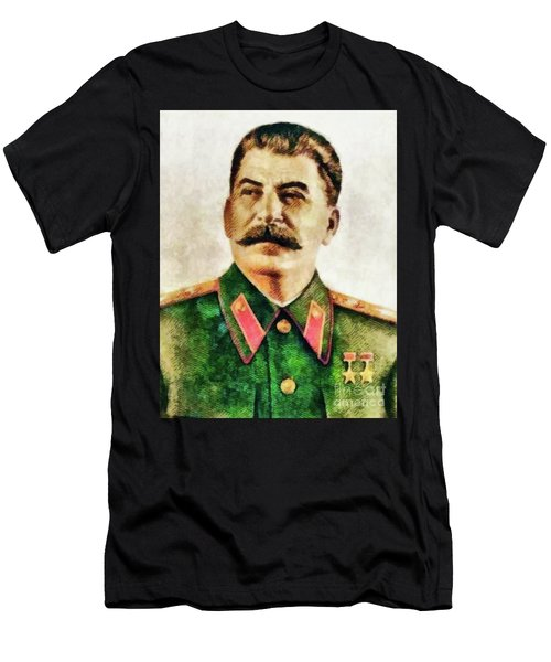 Leaders Of Wwii - Joseph Stalin Men's T-Shirt (Athletic Fit)