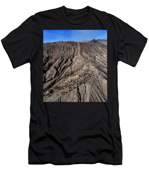 Men's T-Shirt (Athletic Fit) featuring the photograph Leading To The Volcano Crater by Pradeep Raja Prints