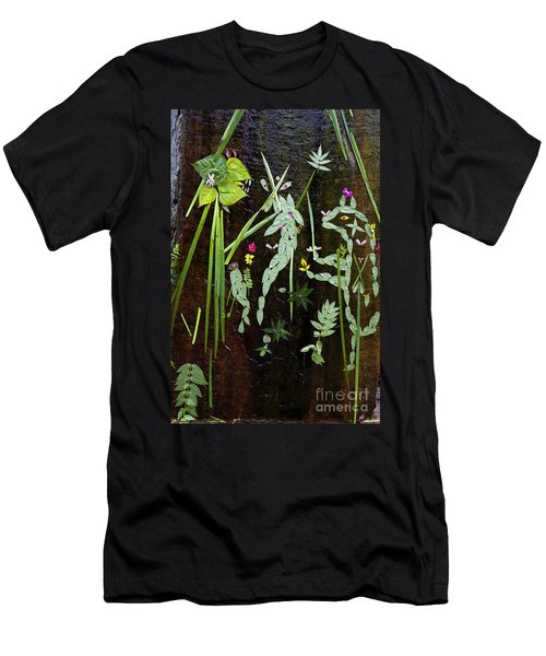 Men's T-Shirt (Athletic Fit) featuring the photograph Leaf Art by Jon Burch Photography