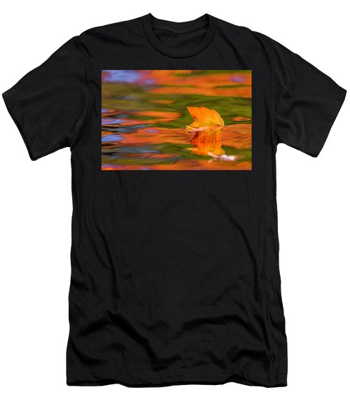 Leaf On Water Men's T-Shirt (Athletic Fit)
