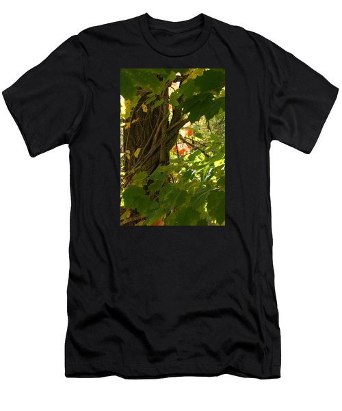 Leaf Peeping In Red Men's T-Shirt (Athletic Fit)