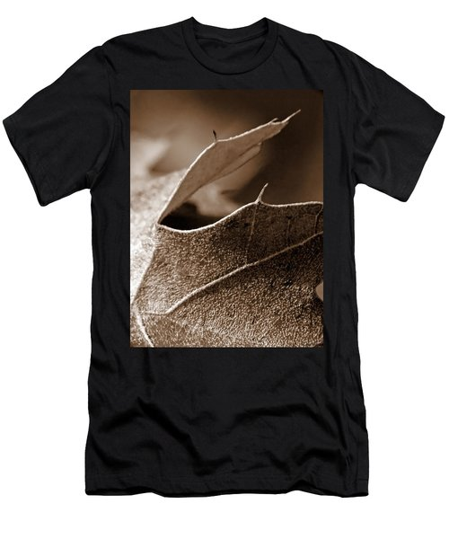 Leaf Study In Sepia II Men's T-Shirt (Athletic Fit)