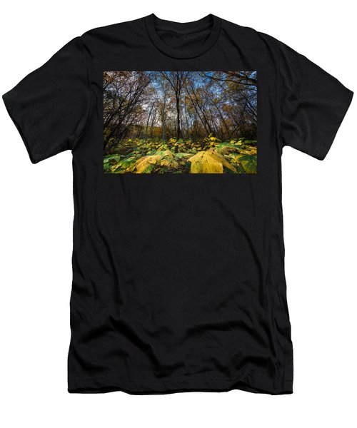Leafy Yellow Forest Carpet Men's T-Shirt (Athletic Fit)
