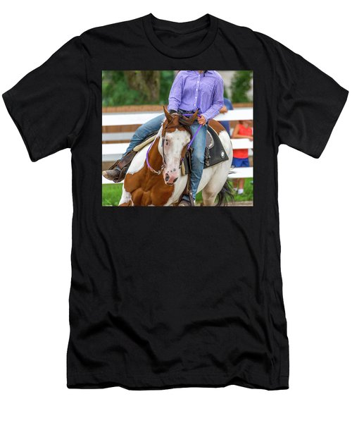 Men's T-Shirt (Athletic Fit) featuring the photograph Leaning Into The Turn by Guy Whiteley