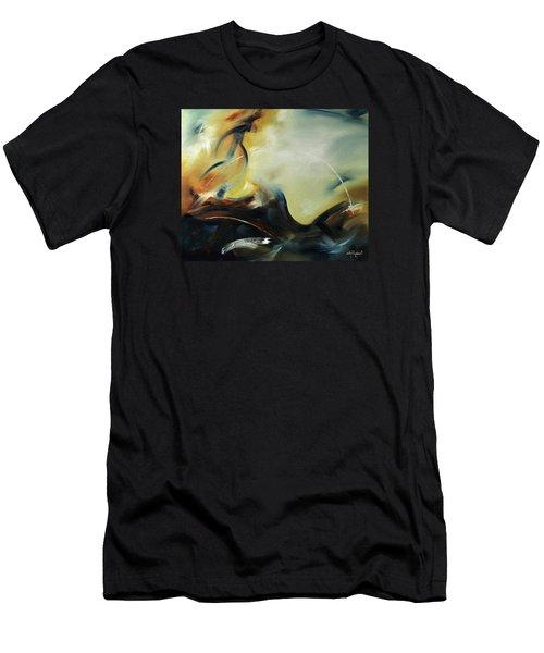 Men's T-Shirt (Slim Fit) featuring the painting Leap Of Faith by Craig T Burgwardt