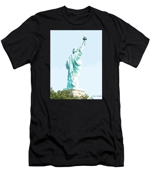 Leap Of Liberty Men's T-Shirt (Athletic Fit)