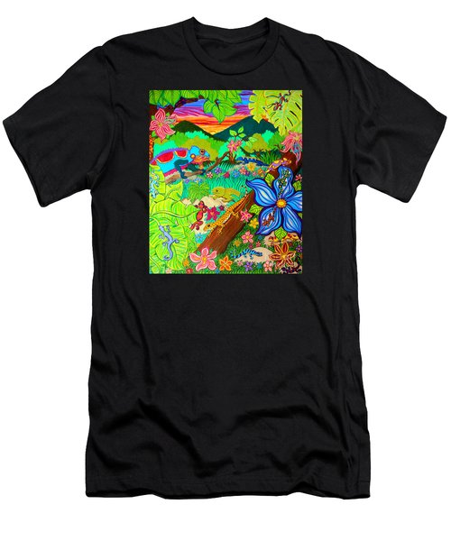 Leapin Lizards Men's T-Shirt (Athletic Fit)