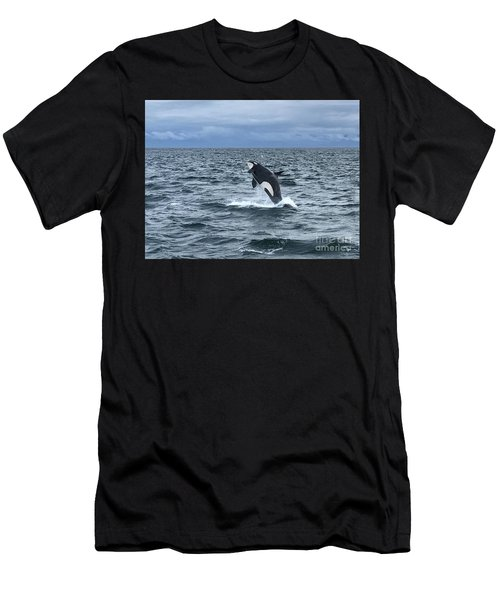 Leaping Orca Men's T-Shirt (Athletic Fit)