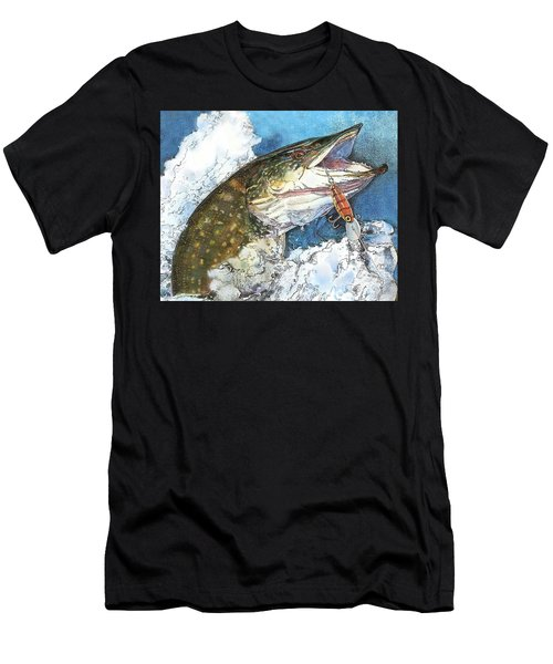 leaping Pike Men's T-Shirt (Athletic Fit)