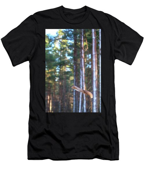 Leaping Red Squirrel Tall Men's T-Shirt (Athletic Fit)