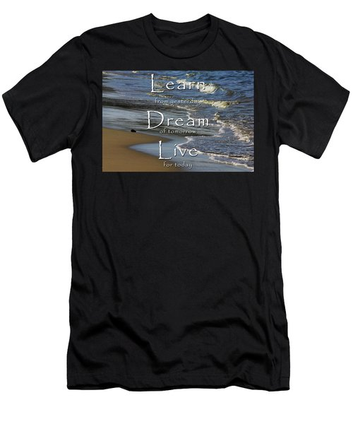 Learn, Dream, Live Men's T-Shirt (Athletic Fit)