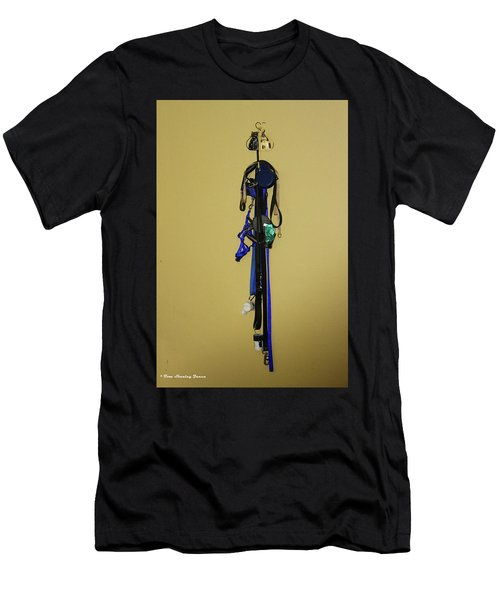 Leash Lady Just Hanging On The Wall Men's T-Shirt (Athletic Fit)