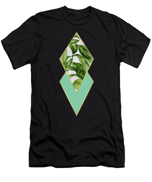 Leaves On Marble Men's T-Shirt (Athletic Fit)