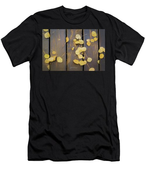 Leaves On Planks Men's T-Shirt (Athletic Fit)
