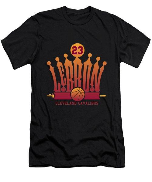 Lebroncrown Men's T-Shirt (Slim Fit) by Augen Baratbate