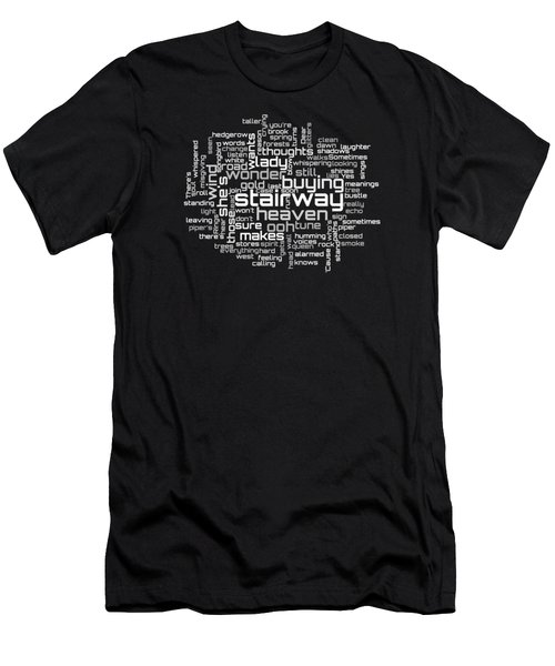 Led Zeppelin - Stairway To Heaven Lyrical Cloud Men's T-Shirt (Athletic Fit)