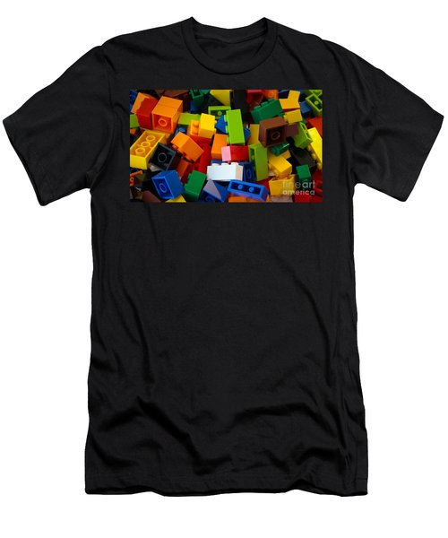 Lego Bricks Men's T-Shirt (Slim Fit) by David Warrington