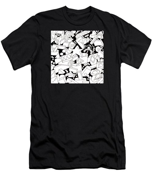 Men's T-Shirt (Slim Fit) featuring the drawing Lego-esque by Lou Belcher
