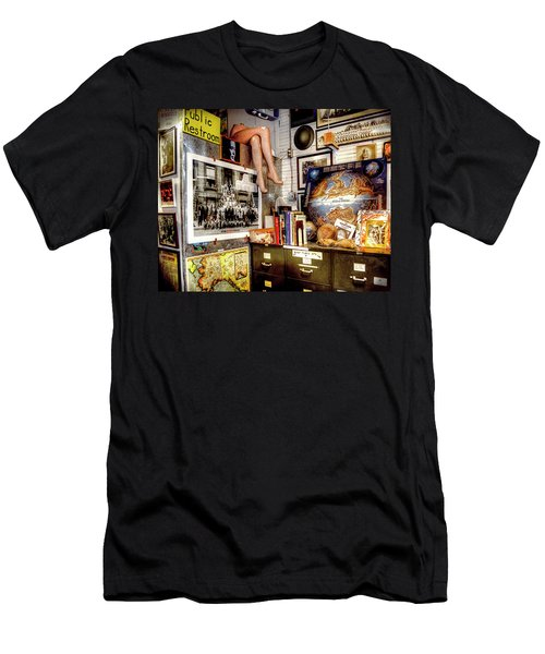 Legs In The Back Of The Shop Men's T-Shirt (Slim Fit) by Greg Sigrist