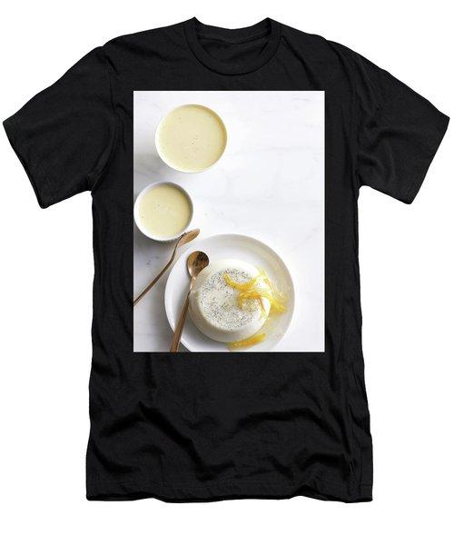 Lemon Panna Cotta Men's T-Shirt (Athletic Fit)