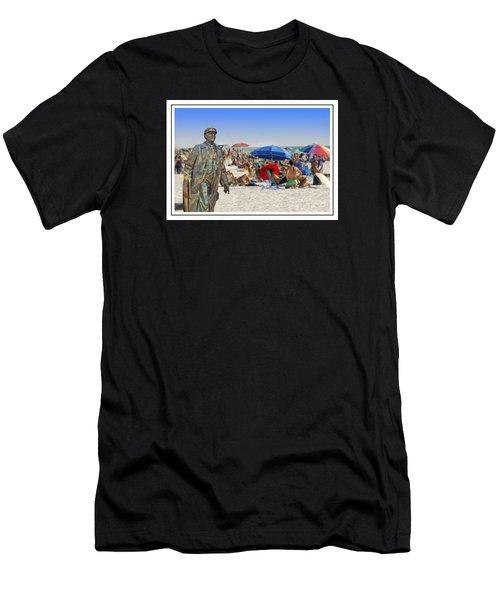 Lenin Goes To The Beach White Border Men's T-Shirt (Athletic Fit)