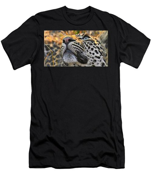 Leopard Aloft Men's T-Shirt (Athletic Fit)