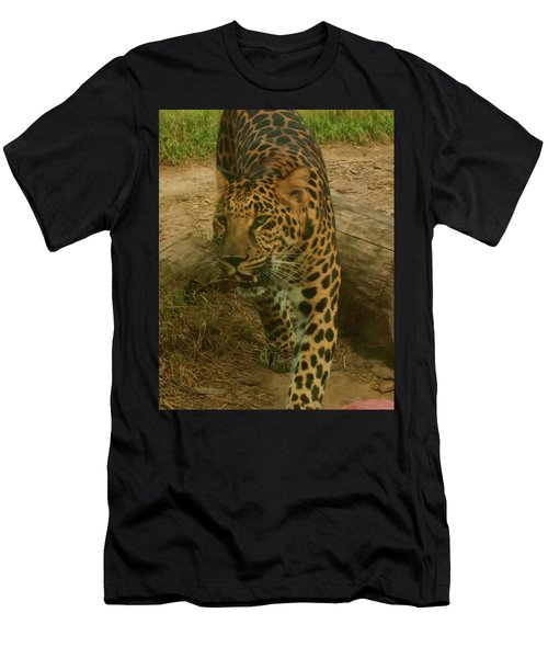Men's T-Shirt (Athletic Fit) featuring the photograph Leopard by Chris Flees