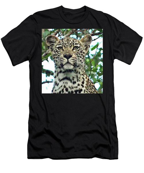 Leopard Face Men's T-Shirt (Athletic Fit)