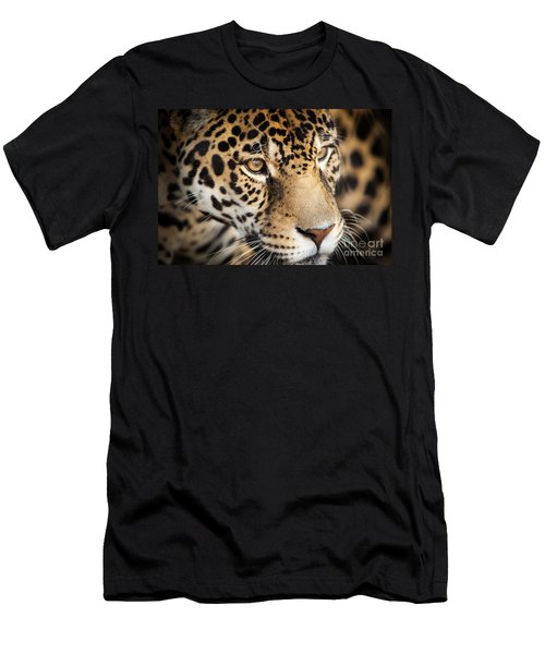 Men's T-Shirt (Athletic Fit) featuring the photograph Leopard Face by John Wadleigh